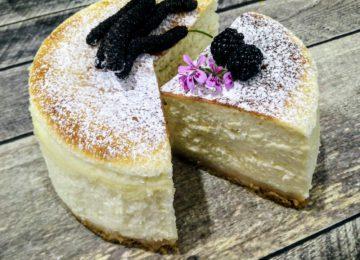 """עוגת גבינה אפויה – תבנית בקוטר 24 ס""""מ"""